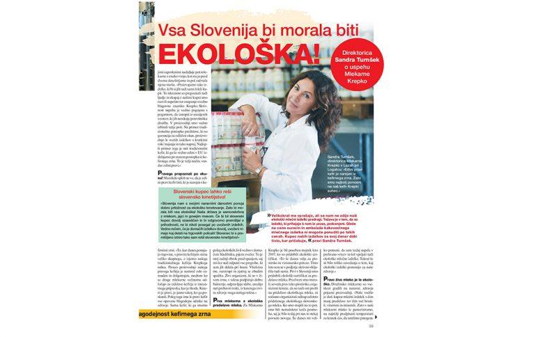 Vsa Slovenija bi morala biti ekološka - revija Zarja Jana